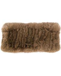 Yves Salomon Rex Headband - Brown