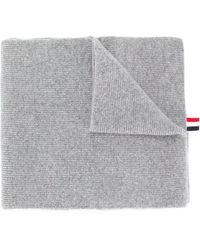 Thom Browne 4-bar Stripe Scarf - Серый
