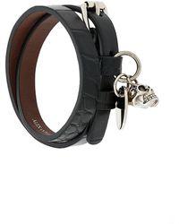 Alexander McQueen - Bracelet double à breloque tête de mort - Lyst