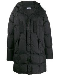 Stone Island Hooded Puffer Coat - Black