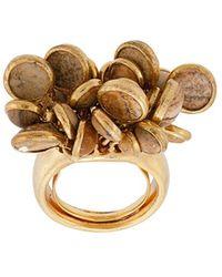 Oscar de la Renta Cluster Ring - Metallic