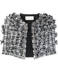 Loulou Cropped Tweed Jacket - Black