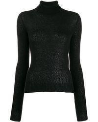 Andrea Ya'aqov Roll Neck Sweater - Black