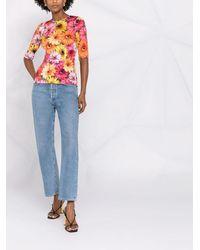 Dolce & Gabbana フローラル Tシャツ - ブルー