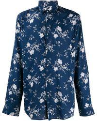 John Varvatos Floral Print Shirt - Blue