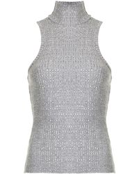 Nobody Denim Luxe Rib High-neck Top - Grey