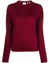 Rossignol Logo-patch U-neck Sweater - Red