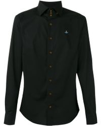 Vivienne Westwood 3つボタンネック シャツ - ブラック