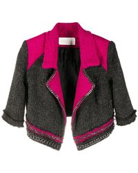Loulou Chain-embellished Knitted Blazer - Pink