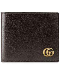 Gucci GG Marmont Leren Bi-voudige Portemonnee - Bruin