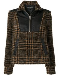 Veronica Beard Contrasting Inserts Checked Jacket - Brown
