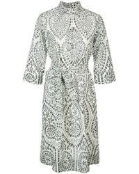 Lisa Marie Fernandez - Embroidered Shirt Dress - Lyst