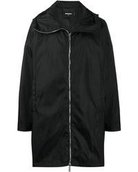 DSquared² Пальто На Молнии С Капюшоном И Логотипом - Черный