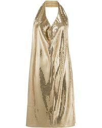 Bottega Veneta Платье Мини С Воротником-хомут И Пайетками - Многоцветный
