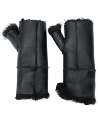 Yves Salomon Fingerless Gloves - Black