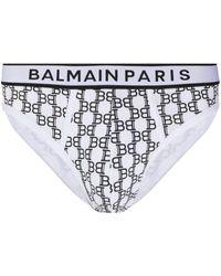 Balmain モノグラム ブリーフ - ホワイト