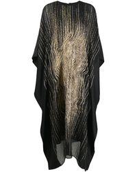 Taller Marmo アブストラクトパターン カフタン - ブラック