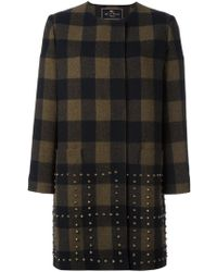 Etro | Studded Checked Coat | Lyst