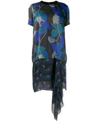 Sacai リーフプリント ドレス - ブラック