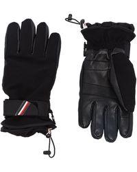 3 MONCLER GRENOBLE Logo-embroidered Ski Gloves - Black