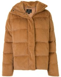 Unreal Fur エコファー パデッドジャケット - ブラウン