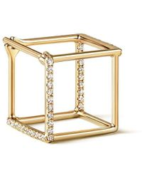 Shihara Diamond Square Earring 10 (02) - Многоцветный