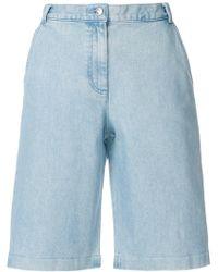 Vanessa Seward Knee-length Denim Shorts - Blue