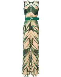 Saiid Kobeisy Embroidered Sleeveless Jumpsuit - Brown