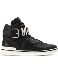 Moschino - Logo Hi-top Sneakers - Lyst