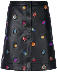 PS by Paul Smith - Embroidered Button-down Skirt - Lyst