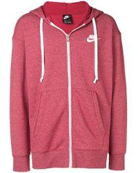 Nike - Melierte Kapuzenjacke mit Reißverschluss - Lyst