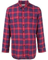 Kent & Curwen チェックシャツ - レッド