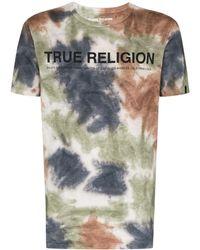 True Religion タイダイ ロゴ Tシャツ - ブラウン