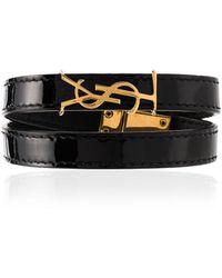Saint Laurent Armband Met Logo - Zwart