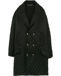 À La Garçonne オーバーサイズ キルティング コート - ブラック