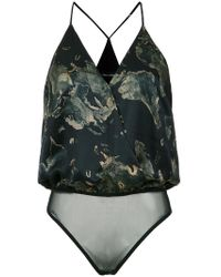 Andrea Marques - Cache Coeur Printed Bodysuit - Lyst