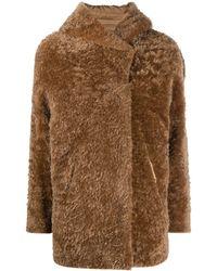Herno Reversible Fur Coat - Brown