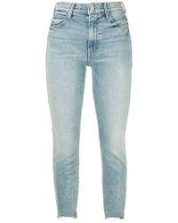 Mother - The Stunner Ankle Chew Skinny Jeans - Lyst