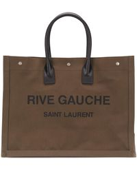 Saint Laurent Rive Gauche Tote Bag - Green