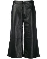 FRAME クロップド ワイドパンツ - ブラック