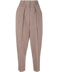 Cedric Charlier Checked Trousers - レッド