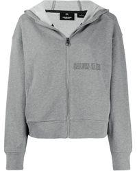 Calvin Klein Kapuzenpullover mit Logo-Print - Grün