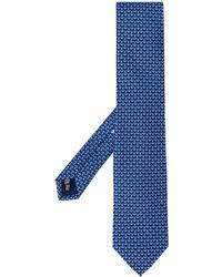 Ferragamo Cravate imprimée - Bleu
