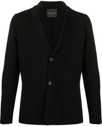 Roberto Collina ニット シングルジャケット - ブラック