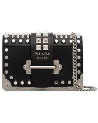 Prada - Black Cahier Small Leather Cross-body Bag - Lyst