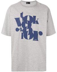 Kolor ロゴ Tシャツ - グレー