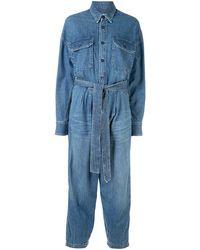 R13 Tuta intera Brindley con cintura - Blu