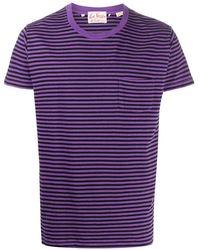 Levi's ストライプ Tシャツ - パープル