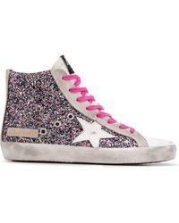 Golden Goose Deluxe Brand Francy Sneakers Met Glitter - Roze