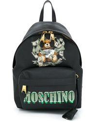 Moschino Logo Print Backpack - Zwart
